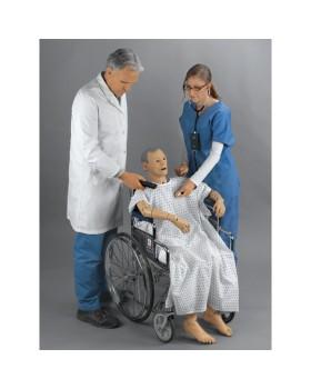GERİ Gelişmiş Yaşlı Hasta Bakım Mankeni, Oskültasyonlu
